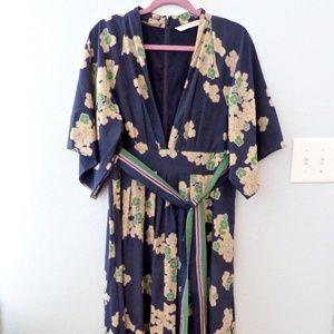 Eshakti Wayward Fancies Kimono Maxi Dress XL 16